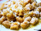 Carrot and Wine Sauce over Sweet Potato Gnocchi