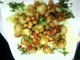 Baby potato n chick peas salad