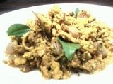 Kuunthal thoran(squid stir fry with tempered coconut)