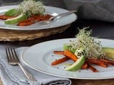 Carrot & Avocado Salad with Toasted Sesame Seeds