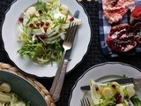 Frisèe, Fennel & Hearts of Palm Salad with Pomegranate