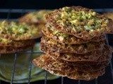 Pistachio, Orange & Honey Florentines (Lace Cookies)