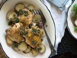 Roasted Chicken with Lemon, Caper & Parsley Sauce