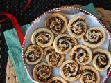 White Chocolate, Espresso & Hazelnut Pinwheel Cookies