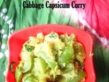 Cabbage Capsicum curry