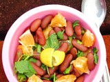 Rajma Orange Salad/Kidney Beans Orange Salad