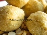 Roasted Gram Laddu/Porikadalai Laddu