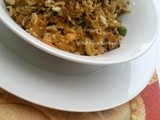 A Bowl of  Sardine fried Rice / Nasi goreng Sardin