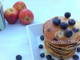 Blueberry Buttermilk Pancakes-(Eggless)