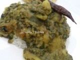 My All Time Fav- Green  Gram with Spinach Curry