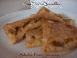 Easy Gluten Free Chorizo Quesadillas Recipe