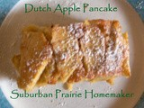 Gluten Free Dutch Apple Pancake Recipe