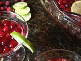 Christmas Cranberry and Pomegranate Punch