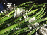 Roasted Asparagus with Garlic and Fresh Parmesan