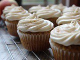 Triple Apple Cupcakes with Cider Frosting