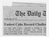 Breaking News on Fastest Cake in the World