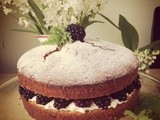 Blackberry and Rose Geranium Cake
