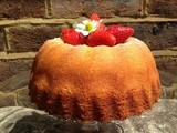 Elderflower, Lemon and Strawberry Cake