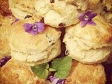 Violet and Sultana Scones
