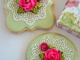 Roses and lace Cookies