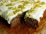 Banana and Passionfruit Cake with Coconut Cream Cheese Frosting