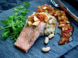 Grilled Salmon with Fennel and Cannellini Mash