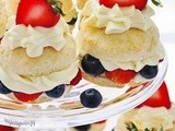 Blueberry Strawberry Mini Shortcakes