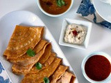 Broken Wheat Tomato Dosa (No Fermentation Required)