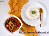 Kathirikai Paal Curry/ Curried Eggplant in Coconut milk