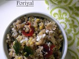 Vaazhaithandu Poriyal (Stir fried Plantain shoot)