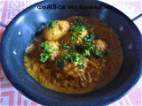 Brown and White Gravy Kashmiri Dum Aloo Recipe in Marathi
