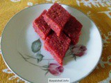Coconut Beetroot Barfi Recipe in Marathi
