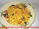Crispy and Tasty Oats and Poha Chivda Recipe in Marathi