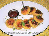 Crispy Stuffed Chicken Kabab Recipe in Marathi