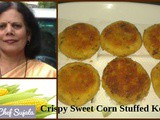 Crispy Sweet Corn Stuffed Kebab Recipe In Marathi