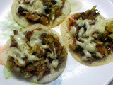 Dosa with Cheese Mushroom Topping Recipe in Marathi