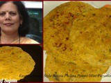 Easy Different Style Batata Pudina Potato Mint Paratha For Kids Tiffin Recipe
