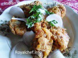 Indian Style Fried Chicken Tempura