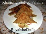 Khamang Stuffed Paratha Recipe in Marathi
