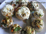 Paneer Stuffed Mushroom Recipe in Marathi