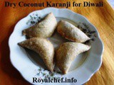 Recipe for Dry Coconut Karanji for Diwali