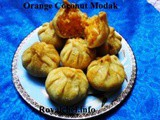 Recipe for Orange Coconut Modak