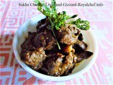 Recipe for Sukha Chicken Liver and Gizzard