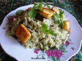 Recipe for Tasty Paneer Pudina Pulao