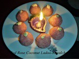 Red Rose Coconut Ladoo Recipe in Marathi