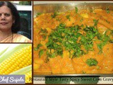 Restaurant Style Tasty Spicy Sweet Corn Gravy Curry Bhaji