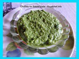 Spicy Green Chutney for Batata Vada Recipe in Marathi