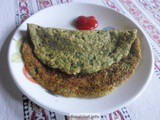 Sprouted Moong Dosa for Tiffin Box