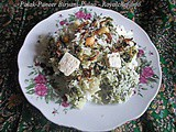 Tasty and Delicious Palak Paneer Pulao Biryani