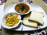 Typical Maharashtrian Spicy Misal Pav Recipe in Marathi